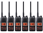 Standard Horizon HX290 (6 Pack) Floating Handheld VHF Radio